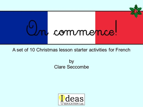 On commence! - French Christmas starters