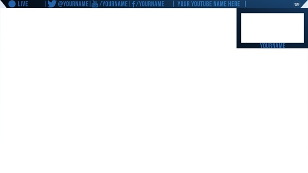 livestream twitch overlay with facecam
