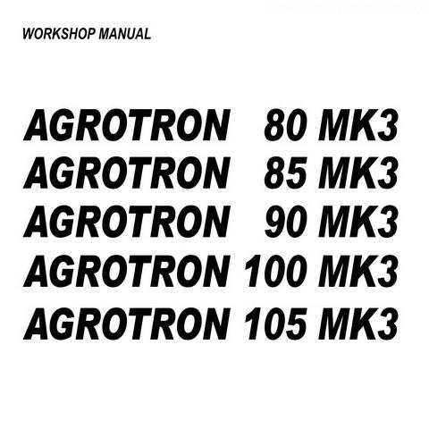 DEUTZ-FAHR AGROTRON 80-85-90-100-105 MK3 Tractor Service Repair Workshop Manual
