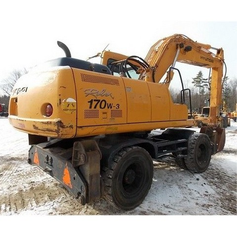 Hyundai Robex 170W-3 / R170W-3 Wheel Excavator Repair Service Manual