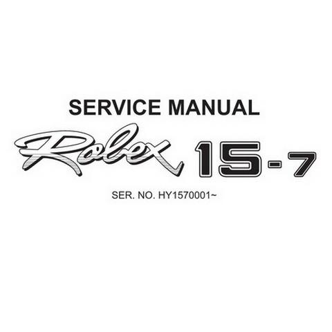 Hyundai Robex 15-7 / R15-7 Mini Excavator Service Repair Manual