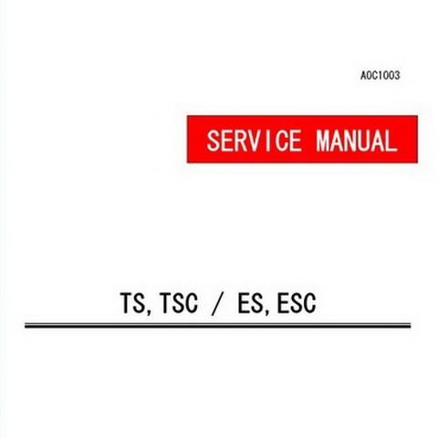 Yanmar TS,TSC / ES,ESC Series Industrial Diesel Engine Repair Service Manual