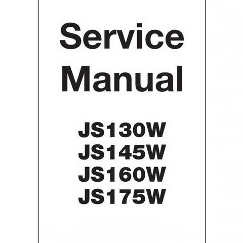 JCB JS130W, JS145W, JS160W, JS175W Wheeled Excavator Repair Service Manual