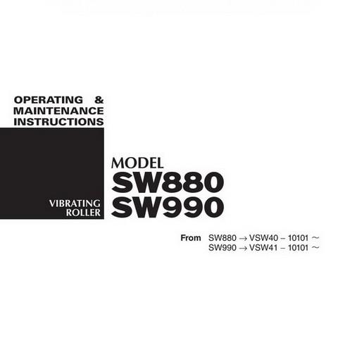 SAKAI SW880, SW990 Vibrating Roller Operation and Maintenance Instructions