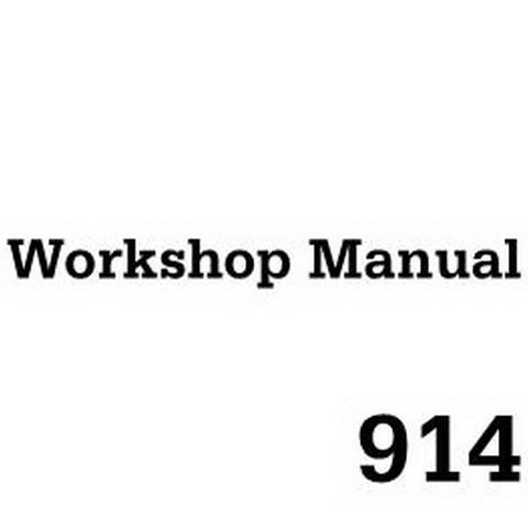 Deutz B/FL 914 Engine Workshop Service Repair Manual