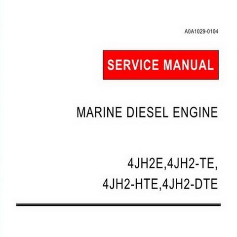 Yanmar 4JH2E, 4JH2-TE, 4JH2-HTE, 4JH2-DTE & 4JH2-UTE Marine Diesel Engine Repair Service Manual