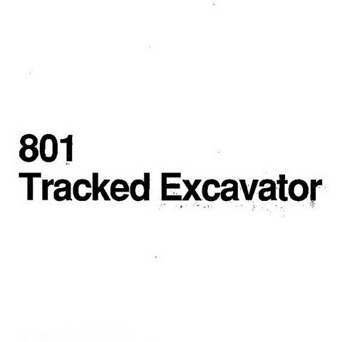JCB 801 Tracked Mini Excavator Repair Service Manual