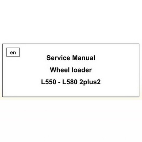 Liebherr L550 - L580 2plus2 Wheel loader Repair Service Manual