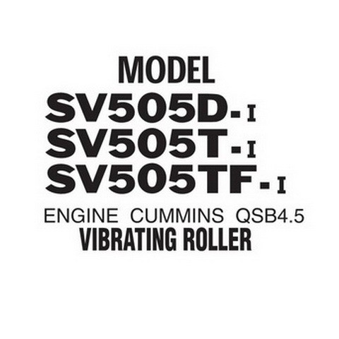 SAKAI SV505-I Series Vibrating Roller Parts Catalogue