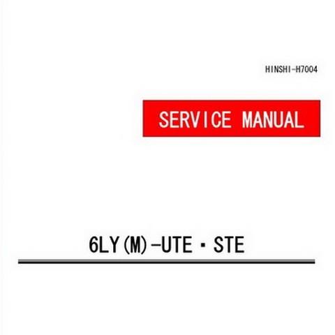 Yanmar 6LY(M)-UTE.STE Marine Diesel Engine Repair Service Manual
