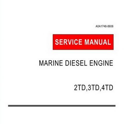 Yanmar 2TD,3TD,4TD Marine Diesel Engine Repair Service Manual