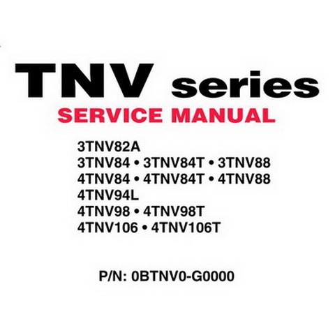 Yanmar TNV Series Industrial Diesel Engine Repair Serv