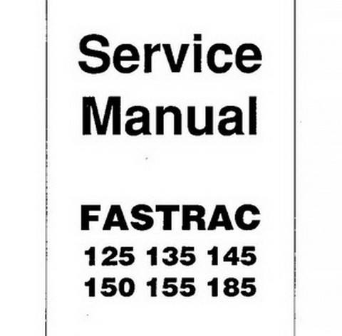 JCB 125, 135, 145, 150, 155, 185 Fastrac Tractor Repair Service Manual