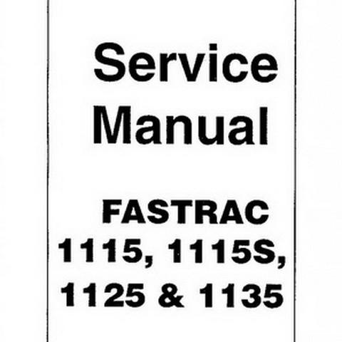 JCB 1115, 1115S, 1125, 1135 Fastrac Tractor Repair Service Manual