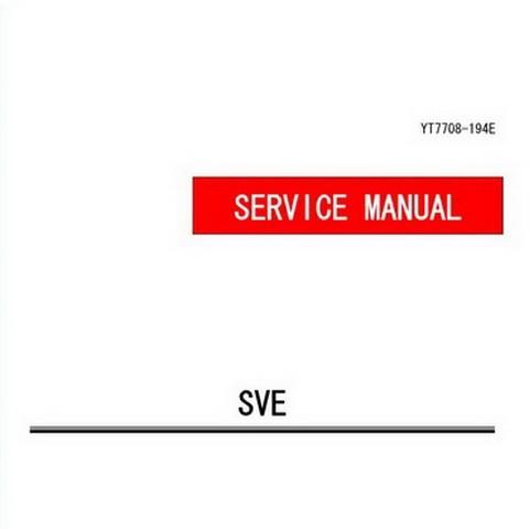 Yanmar SVE Series Marine Diesel Engine Repair Service Manual