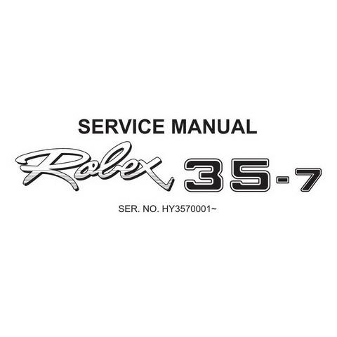 Hyundai Robex 35-7 / R35-7 Mini Excavator Service Repair Manual