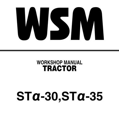 Kubota STα-30, STα-35 Tractor Service Repair Workshop Manual