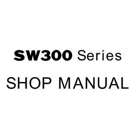 SAKAI SW300 Series Vibrating Roller Service Repair Shop Manual
