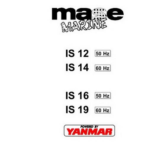 Yanmar Mase Marine IS.12, IS.14, IS.16, IS.19 Generators Workshop Repair Service Manual
