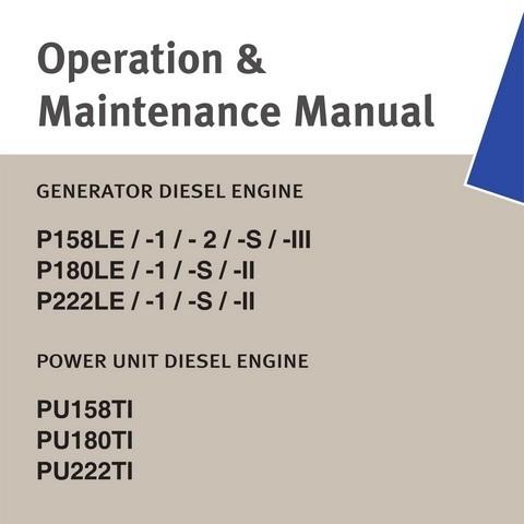 Doosan P158LE / P180LE / P222LE, PU158TI / PU180TI / PU222TI Engine Operation and Maintenance Manual