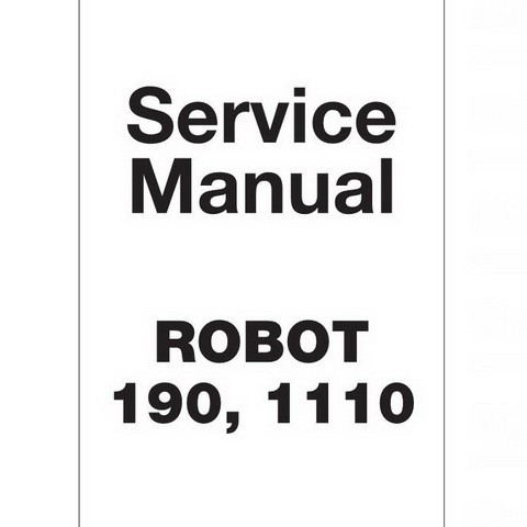 JCB Robot 190, 1110 Skid Steer Loader Repair Service Manual