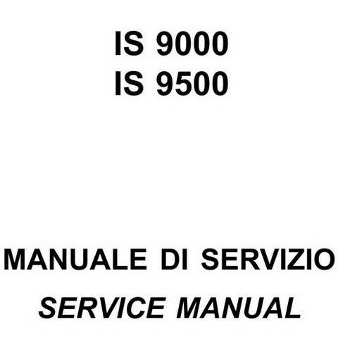 Yanmar Mase Marine IS 9000, IS 9500 Generators Repair Service Manual