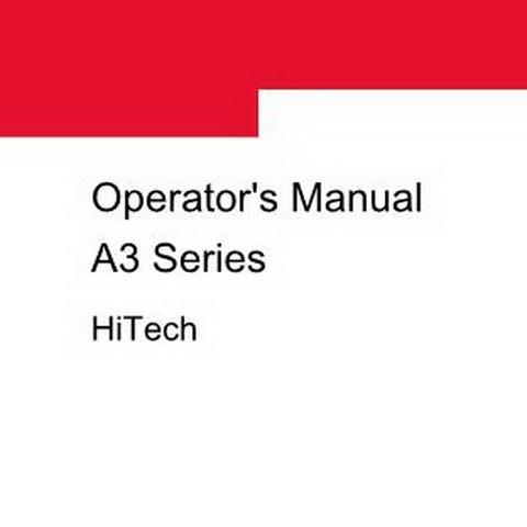 Valtra A3 Series HiTech Tractors Operator's Manual
