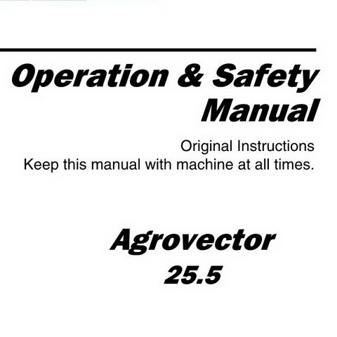 Deutz-Fahr Agrovector 25.5 Tractor Operation & Safety Manual