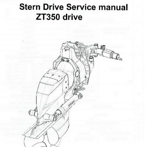 Yanmar ZT350 Stern Drive Repair Service Manual
