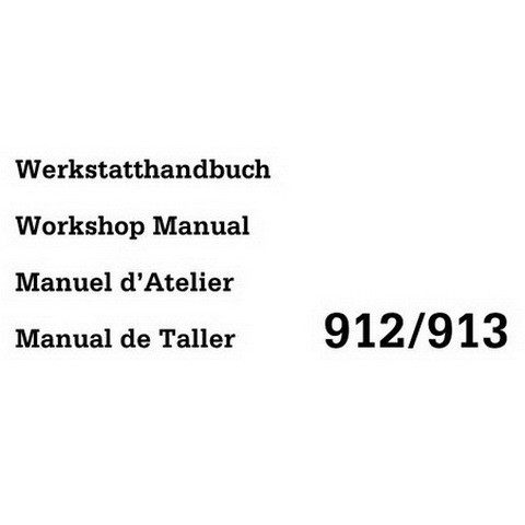 Deutz 912, 913 Diesel Engine Workshop Service Repair Manual
