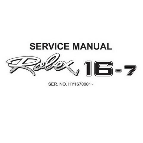 Hyundai Robex 16-7 / R16-7 Mini Excavator Service Repair Manual