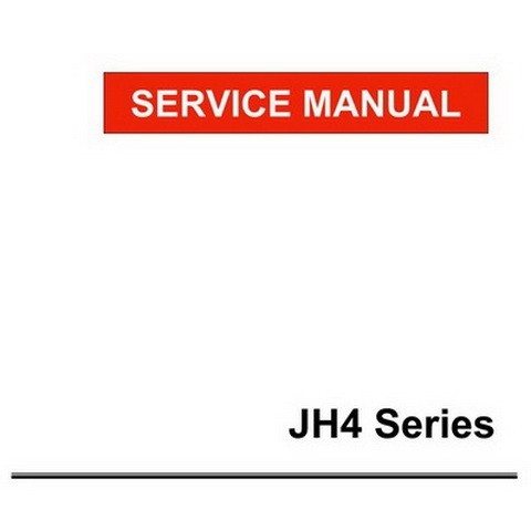Yanmar JH4 Series Marine Diesel Engine Repair Service Manual