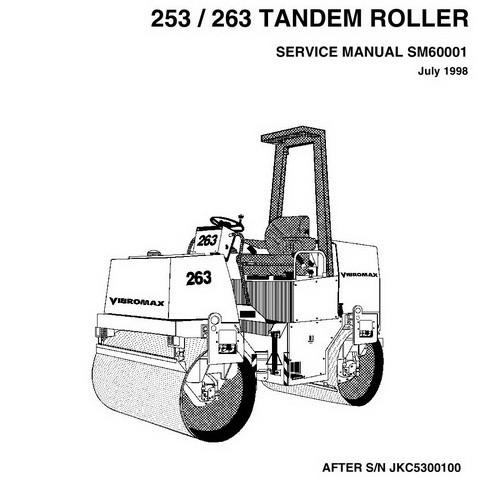Vibromax 253 / 263 Tandem Roller Repair Service Manual