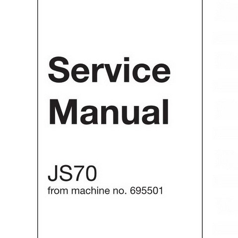 JCB JS70 Tracked Excavator Repair Service Manual