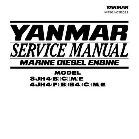 Yanmar 3JH4E / 4JH4E Marine Diesel Engine Repair Service Manual