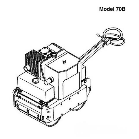 Vibromax 70B Walk-Behind Roller Repair Service Manual