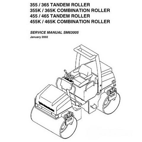 Vibromax 355, 365, 455, 465 Roller Repair Service Manual