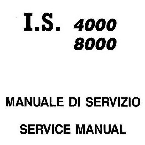 Yanmar Mase Marine I.S. 4000, I.S. 8000 Generators Repair Service Manual