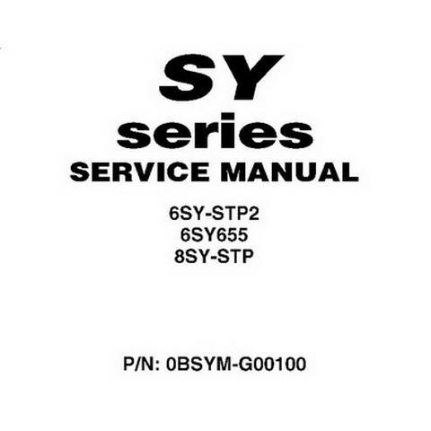 Yanmar SY Series Marine Diesel Engine Repair Service Manual