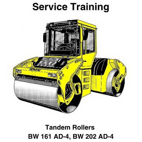 Bomag BW 161 AD-4, BW 202 AD-4 Tandem Rollers Service Training