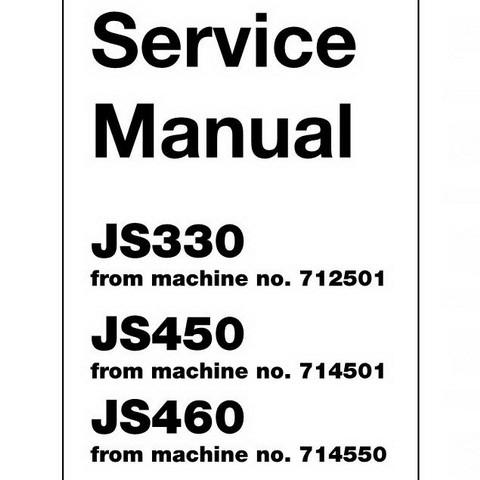 JCB JS330, JS450, JS460 Tracked Excavator Repair Service Manual