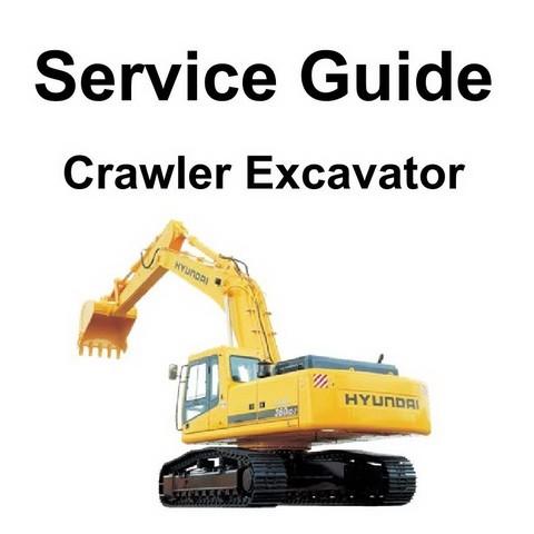 Hyundai R140LC-7, R160LC-7 & R210LC-7 Crawler Excavator Repair Service Guide