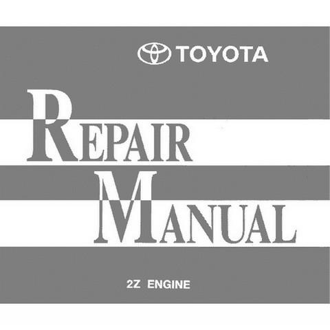 Toyota Forklift Trucks 2Z Model Engine Service Repair Manual