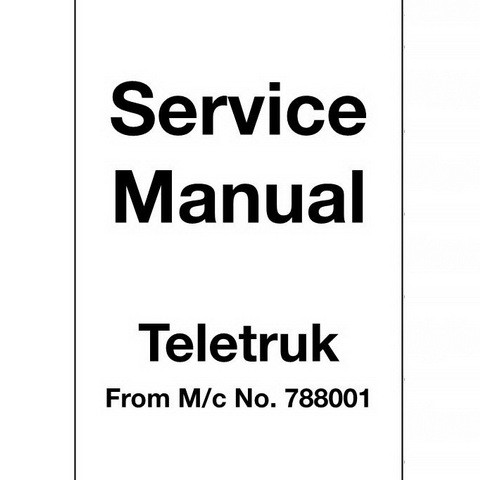 JCB 2.0D/G, 2.5D/G, 3.0D/G, 4x4 3.0D, 4x4 3.5D Teletruk Repair Service Manual