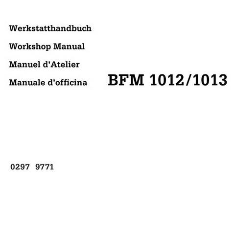 DEUTZ BFM 1012/E, BFM 1013/E Engine Service Repair Workshop Manual