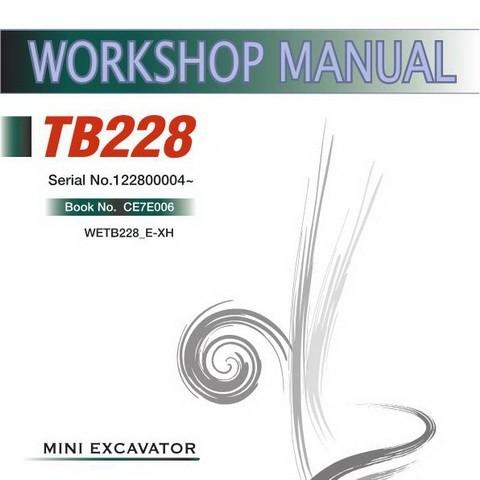 Takeuchi TB228 Mini Excavator Workshop Service Repair Manual