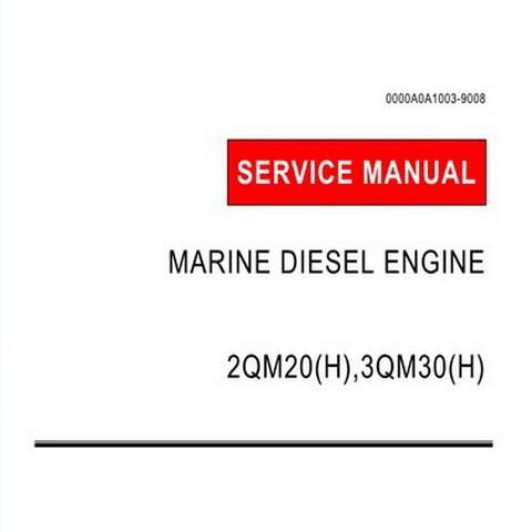 Yanmar 2QM20(H),3QM30(H) Marine Diesel Engine Repair Service Manual
