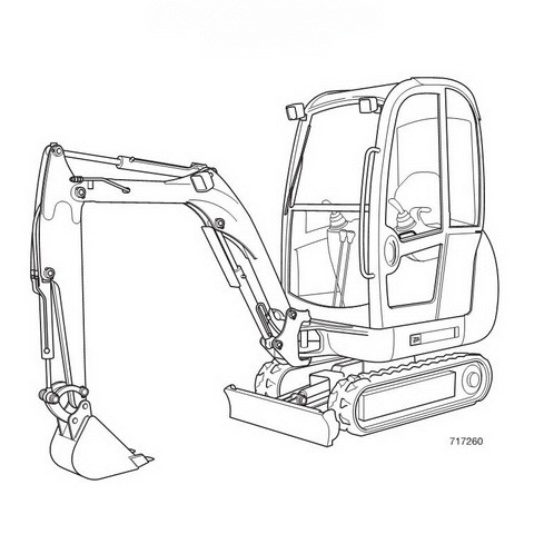 JCB 8014, 8016, 8018 Mini Excavator Repair Service Manual