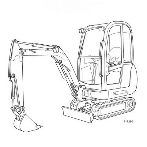JCB 8014, 8016, 8018 Mini Excavator Repair Service Man