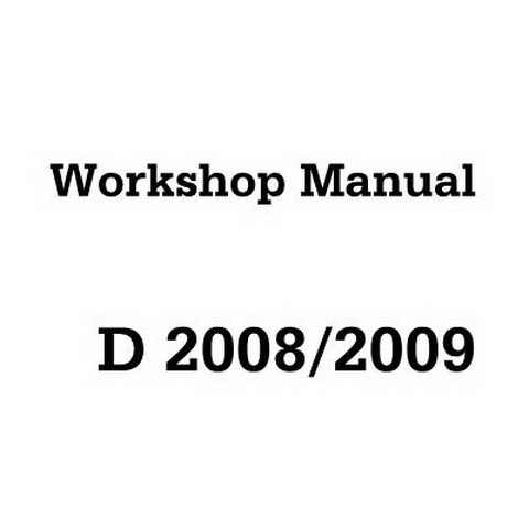 Deutz D 2008/2009 Engine Workshop Service Repair Manual